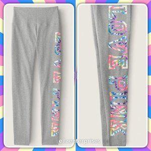 VS Pink Gray Tie Dye High Waist Cotton Legging